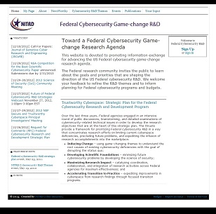 Federal cybersecurity Game-change R&D website
